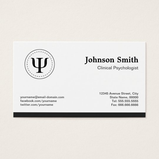 Clinical Psychologist - Psychology Psi Symbol Business Card
