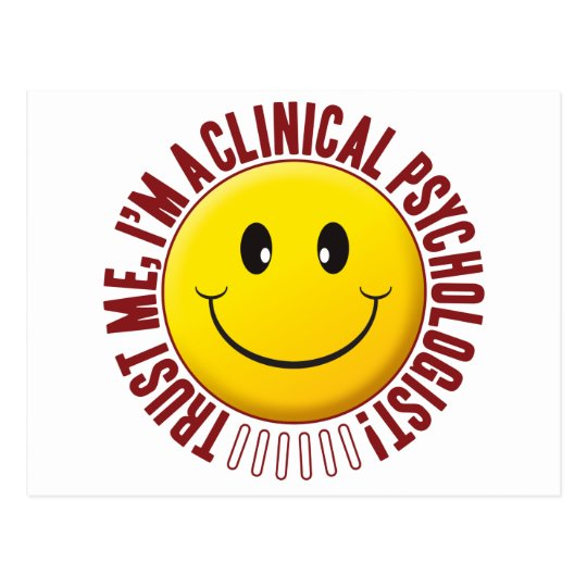 Clinical Psychologist Trust Smiley Postcard