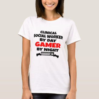 Clinical Social Worker Gamer T-Shirt