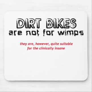 Clinically Insane - Dirt Bike Motocross Mouse Mat