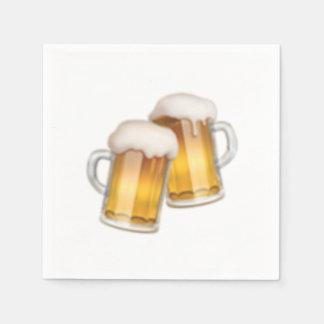 Clinking beer mugs - Emoji Disposable Napkins