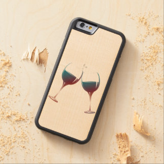 Clinking Wine Glasses Wood Phone Case