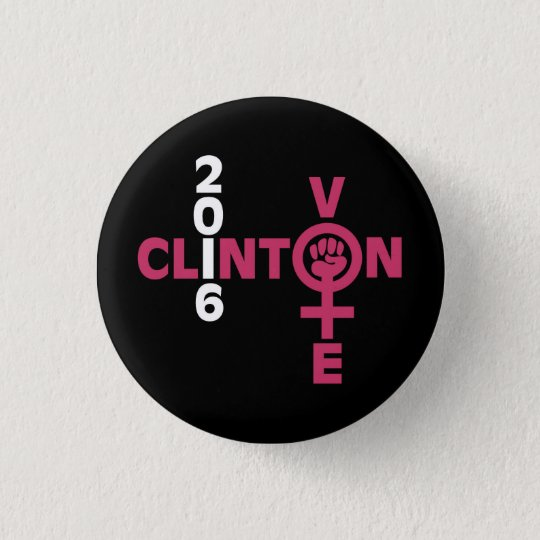 Clinton 2016 3 cm round badge