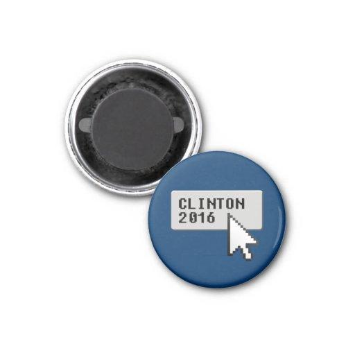 CLINTON 2016 CURSOR CLICK REFRIGERATOR MAGNETS