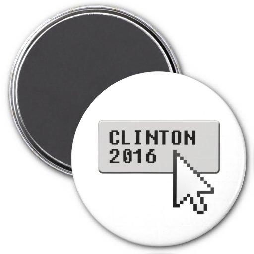 CLINTON 2016 CURSOR CLICK REFRIGERATOR MAGNET