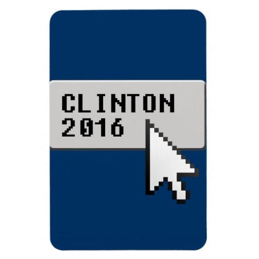 CLINTON 2016 CURSOR CLICK RECTANGLE MAGNETS