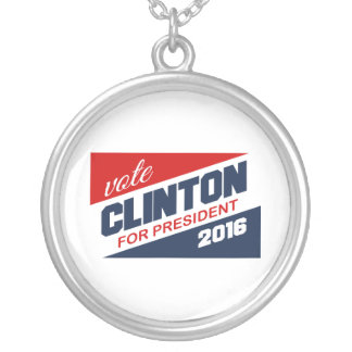 CLINTON 2016 SUPPORTER CUSTOM NECKLACE