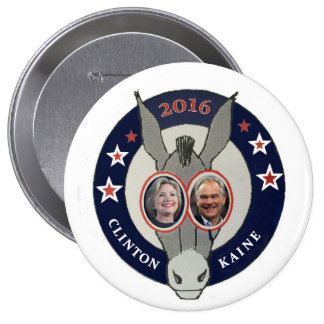 Clinton and Kaine 10 Cm Round Badge