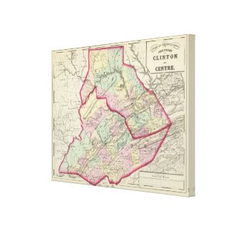Clinton, Centre counties Canvas Print
