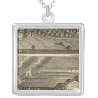 Clinton Fire Brick Works Anderson's Landing Silver Plated Necklace