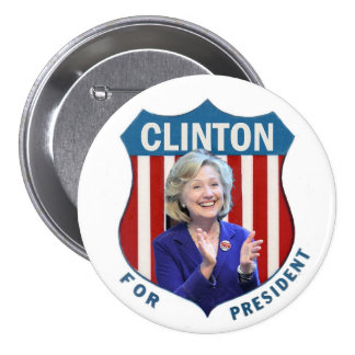 Clinton for President 2016 7.5 Cm Round Badge