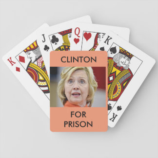 CLINTON FOR PRISON NOVELTY PLAYING CARDS
