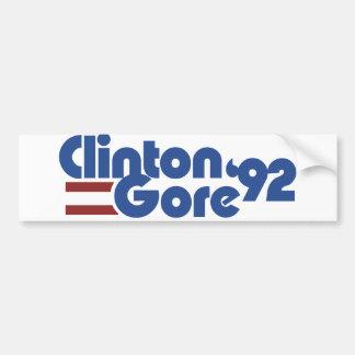 Clinton Gore 1992 Bumper Sticker