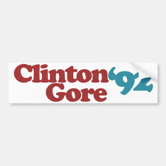 Clinton Gore 1992 Bumper Sticker