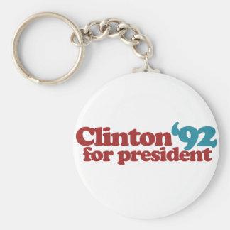 Clinton Gore 92 Basic Round Button Key Ring