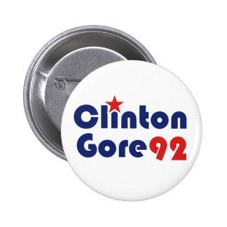 Clinton Gore 92 Retro Democrat 6 Cm Round Badge