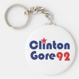 Clinton Gore 92 Retro Democrat Basic Round Button Key Ring