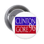 Clinton Gore 96 Distressed Design 6 Cm Round Badge
