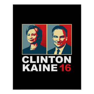 Clinton Kaine 16 - Posterized -- Poster