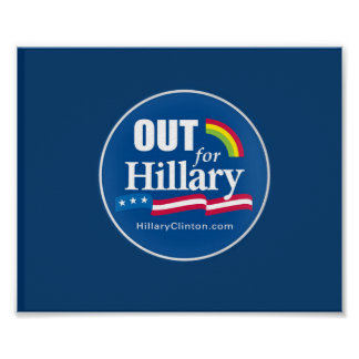 "Clinton ""Out"" Poster Gay"