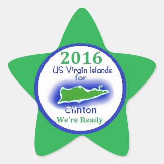 Clinton Virgin Islands 2016 Stickers