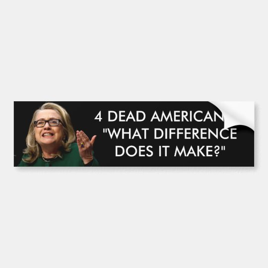 Clinton -  What Difference Does It Make? Bumper Sticker