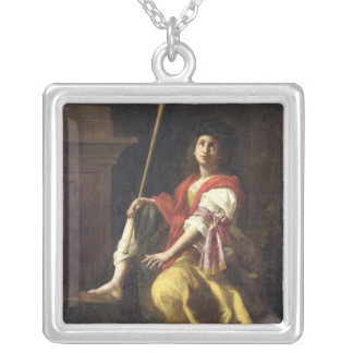 Clio, Muse of History, 1624 Silver Plated Necklace