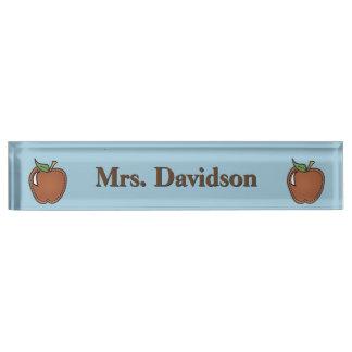 Clip Art Apples Teacher's Custom Desk Nameplate