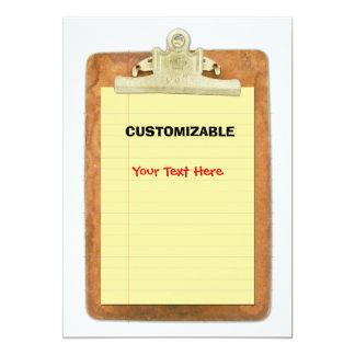 Clip Board & Paper Customize Custom Announcements