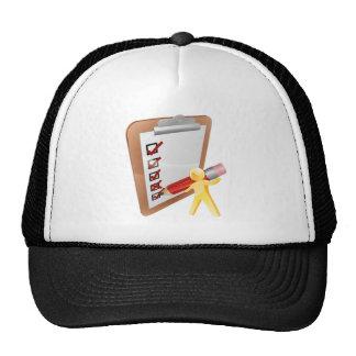 Clip board person trucker hat