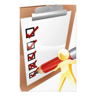 Clip board person stationery design