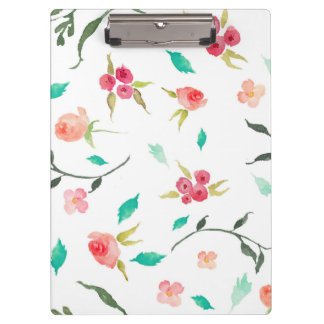 Clipboard Watercolor Flower Fields