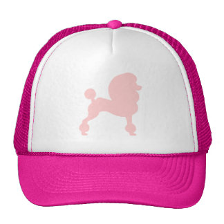 Clipped Standard Poodle (in light pink) Cap