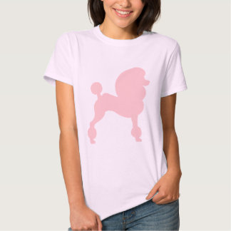 Clipped Standard Poodle (in light pink) T Shirt