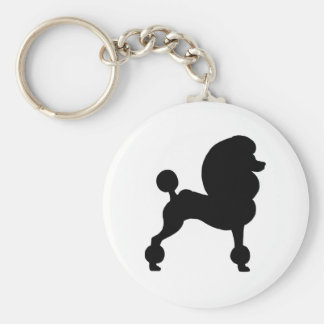 Clipped Standard Poodle Key Ring
