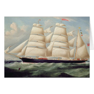 Clipper Barque 'Clendovey' (oil on canvas) Card