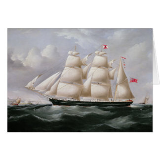 Clipper Barque 'Procymatia' off Dover (oil on canv Greeting Card