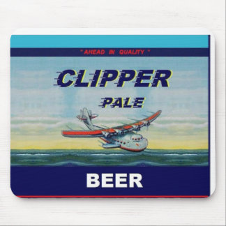 CLIPPER PALE BEER Famous Design Flat Top Can Mouse Mat