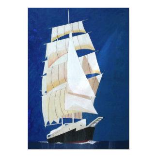 """Clipper sail boat 5"""" x 7"""" invitation card"""