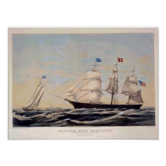 Clipper ship Adelaide Vintage Poster Reproduction