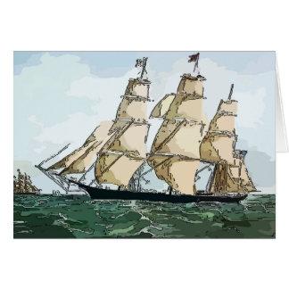 Clipper Ship, at sea Greeting Card