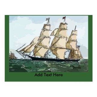 Clipper Ship Card add text Postcard