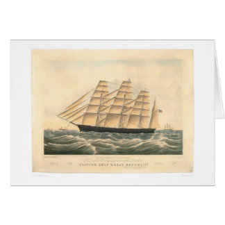 """Clipper ship """"Great Republic"""" (0398A) Card"""