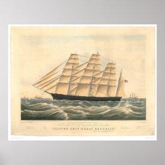 "Clipper ship ""Great Republic"" (0398A) Poster"