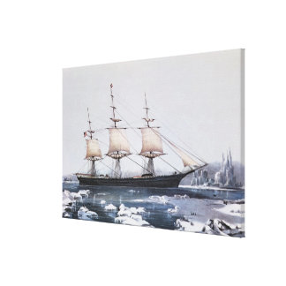 "Clipper Ship ""Red Jacket"" Canvas Print"