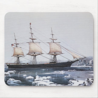 """Clipper Ship """"Red Jacket"""" Mouse Mat"""