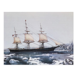"""Clipper Ship """"Red Jacket"""" Postcard"""
