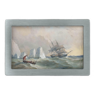 Clipper Ship Sailboat High Seas Mens Belt Buckle