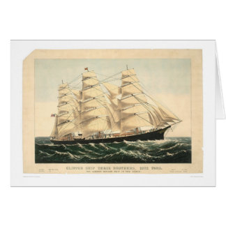 "Clipper ship ""Three Brothers"" (0406A) Greeting Card"