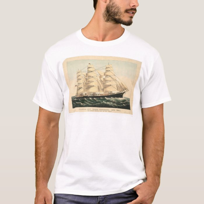 "Clipper ship ""Three Brothers"" (0406A) T-Shirt"